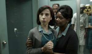 "This image released by Fox Searchlight Pictures shows Sally Hawkins, left, and Octavia Spencer in a scene from ""The Shape of Water."" (Fox Searchlight Pictures via AP)"